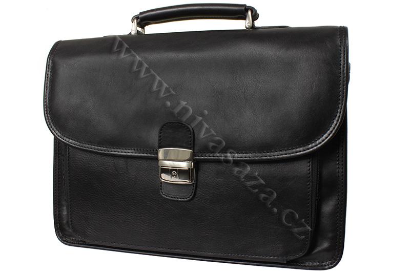 Pánská kožená aktovka KAT31008-B černá